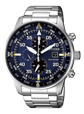 NEW Citizen Crono Aviator Men's Eco Drive Chronograph Watch - CA0690-88L