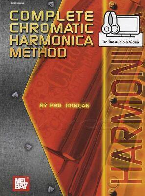 Harmonica Book Method Video - Complete Chromatic Harmonica Method Music Book/Audio/Video SAME DAY DISPATCH