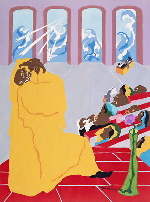 Jacob Lawrence Genesis Creation Sermon Giclee Canvas Print  Poster for sale  Shipping to Canada