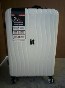 IT Luggage Doppler 28in Hard Side 8-Wheeled Expandable Luggage - Bright White 1 pc (new other)