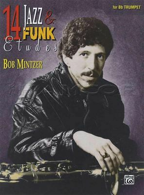 - 14 Jazz & Funk Etudes for Bb B Flat Trumpet Sheet Music Book with CD Bob Mintzer
