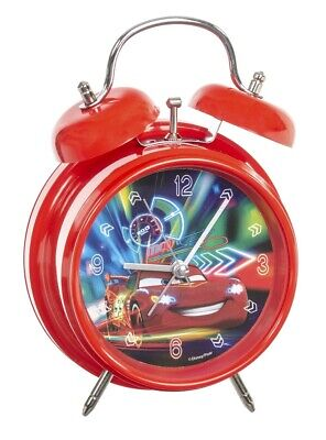 Disney Pixar Cars alarm clock red EL51059 clock analog with bell for kids New Analog Clock For Kids
