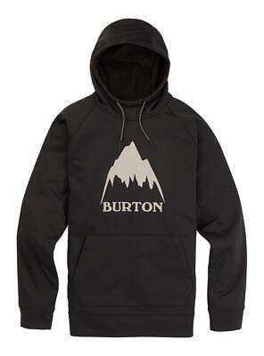 Burton Mens Crown Bonded Pullover Hoodie True Black
