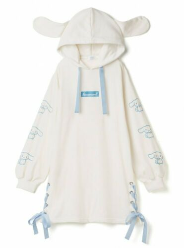 Sanrio Cinnamoroll Hoodie One-Piece Lace Up Ribbon Adult Size Japan Cosplay