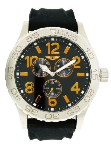I by Invicta IBI41705-001 Men's Round Analog Day Date Burnt Orange Black Watch