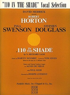 One Hundred Ten in the Shade Sheet Music Vocal Selections NEW 000312303