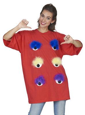 Rotes Big Eye Shirt für Damen - Monster, Alien, Junggesellenabschied Karneval