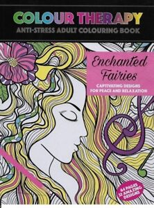 Colour Therapy Enchanted Fairies Adult Children Colouring Book 64 Pages A4
