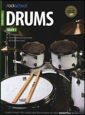 Rockschool Drums Grade 1 2012-2018 Exam Sheet Music Book with Online Audio