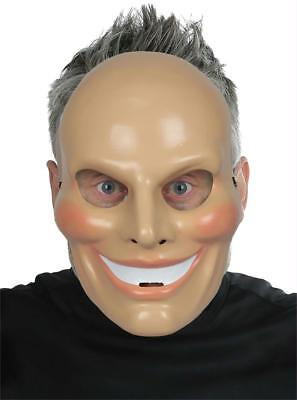 ADULT INSANE EVIL SINISTER SMILEY PVC FACE MASK HALLOWEEN COSTUME MR131518](Smiley Mask Halloween)