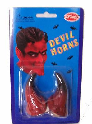 2 PAIR STICK ON RED DEVILS HORNS novelty costumes wholesale accessories devil](Red Devil Accessories)