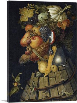 ARTCANVAS Autumn 1573 Canvas Art Print by Giuseppe (Giuseppe Arcimboldo Autumn)
