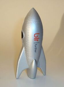 ROCKET SPACESHIP FLASH GORDON STYLE METALLIC SILVER SCI-FI AD PROMO TOY MODEL