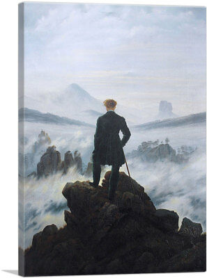 ARTCANVAS The Wanderer Above The Sea of Fog 1818 Canvas Art Print by (Wanderer Above The Sea Of Fog Print)