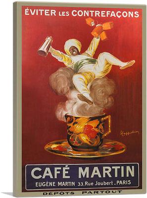 - ARTCANVAS Cafe Martin 1921 Canvas Art Print by Leonetto Cappiello