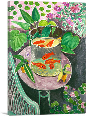 Henri Matisse (ARTCANVAS Goldfish 1911 Canvas Art Print by Henri Matisse )