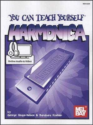 Harmonica Book Method Video - You Can Teach Yourself Harmonica Sheet Music Book with Audio & Video Method