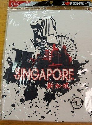 Mens I Love Fine Tees Singapore Graphic White Tee S S Sz L  Newin Package