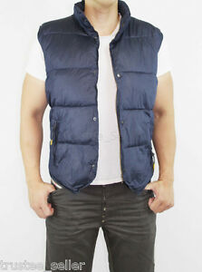 NWT-DIESEL-Brand-Mens-Warwick-Navy-Quilted-Nylon-Puffer-Vest-Jacket-S-M-L-XL
