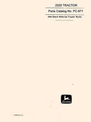 John Deere 2020 Series Tractor Parts Catalog Manual