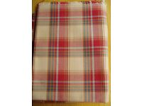 FABRIC - RUST & CARAMEL TARTAN / CHECK. Heavy weight curtain / upholstery. COLLECTION ONLY