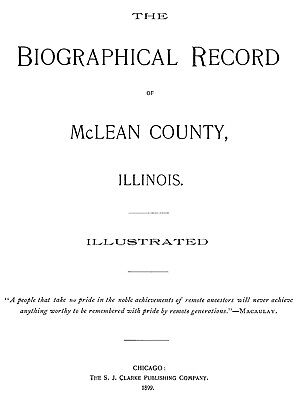 81a741326642 1899 Genealogy   Biography of McLean County Illinois IL