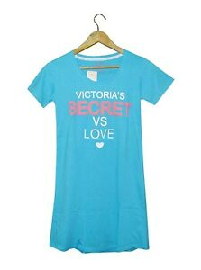 NEW-AUTHENTIC-VS-WOMEN-039-S-SLEEP-TEE-SKY-BLUE-SIZE-LARGE