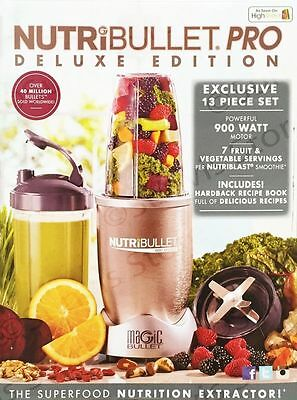Nutribullet Pro Deluxe Edition 900W 10 Piece Set Blender/Extractor/Juicer