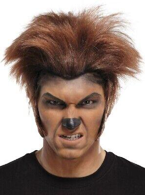 alloween Werwolf Kostüm Perücke Outfit Accessoire (Herren Braun Halloween Perücken)