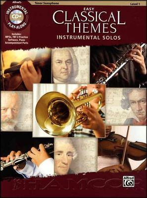 Easy Classical Themes Tenor Sax Saxophone Play-Along Sheet Music Book/CD Solos Alfred Tenor Sheet Music