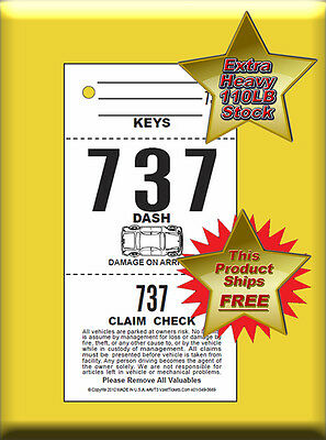 AVT3-CF  - (2,000 Per Box) 3 Part Valet Tickets with Car Damage Diagram