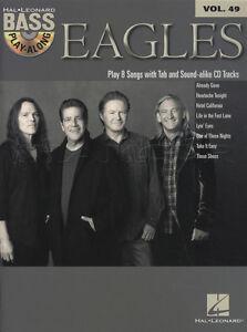 Eagles Bass Guitar Play-Along TAB Music Book with CD Vol 49 Hotel California