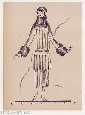 Art Déco-Mode-Karl Sax - Lithographie aus Styl 1922