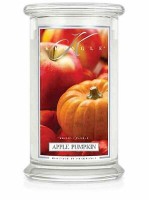 APPLE PUMPKIN Large 2-Wick 22 oz 100  Hour Jar by Kringle Candles Large 2 Wick