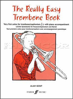 1st Trombone Music Book (The Really Easy Trombone Book Sheet Music Very First Solos Euphonium Bass Treble )