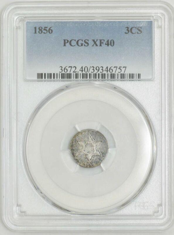 1856 Three Cent 3CS XF40 PCGS 943018-15