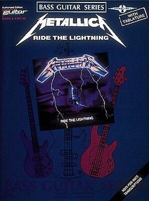 Metallica Ride the Lightning Sheet Music Bass Guitar Series NEW 002507040