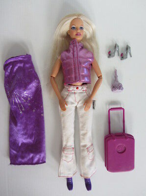 BARBIE DOLL FASHION PACK LOT - Early 2000s Doll - Walking Moving Doll + Clothes