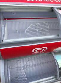 Sliding Doors Ice Cream Retail Display Freezer