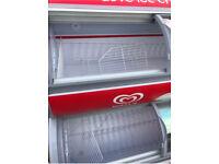 Sliding Doors Ice Cream Retail Display Freezer