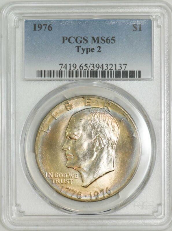 1976 Type 2 Eisenhower Dollar $ Ike MS65 PCGS 942930-2
