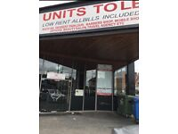 RETAIL UNITS TO LET ON BELGRAVE ROAD. RENTS STARTING FROM £150 Per Week INCLUDING UTILITY BILLS