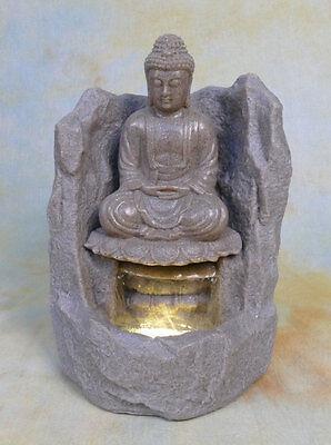 Zimmerbrunnen Springbrunnen Wasserwand Tischbrunnen LED Kaskade Buddha  DW05-a (Springbrunnen Buddha Wasser)