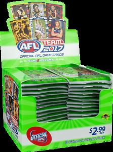 2017 AFL Team Coach Cards Sealed Box - 36 Packs Wangara Wanneroo Area Preview