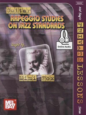Arpeggio Studies on Jazz Standards Guitar TAB Sheet Music Book/Audio by Mimi Fox