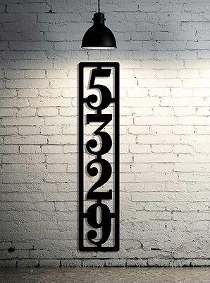 Vertical Metal House Number Address Sign - Large House Numbers Metal Steel