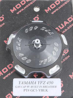 MODQUAD BILLET GAS CAP (BLACK LOGO) GC1-YBLK ATV Yamaha