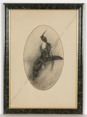 "Dora Wahlroos (1870-1947) ""Fashionable lady"", drawing, 1912"