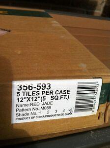 NATURAL MARBLE TILES RED JADE 12 X12 $4 EACH TILE Windsor Region Ontario image 2