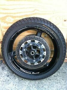 Yamaha R6 2002 front and rear wheel sets with rain tires Windsor Region Ontario image 2